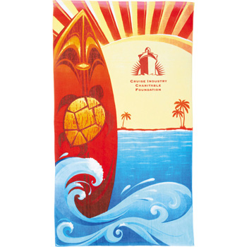 14 lb./doz. Surf Board Beach Towel